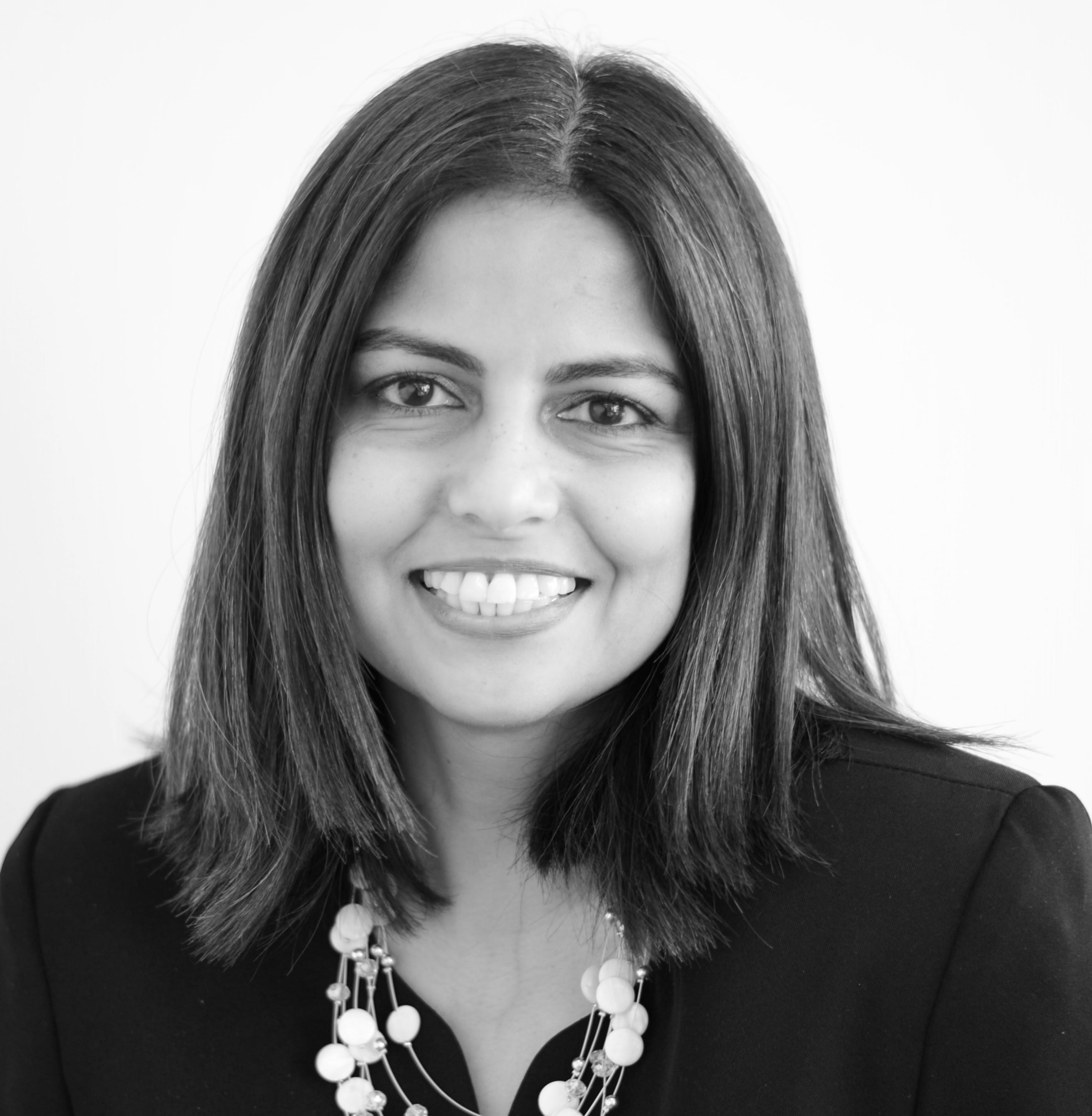 MGI World Audrey Danasamy MGI Asia Area Coordinator, black and white profile photo