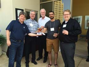 Delegates cocktail on roof image 2 2016 MGI North American Conference San Antonio, Texas