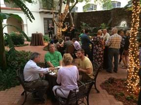 Delegates courtyard drinks image 2 2016 MGI North American Conference San Antonio, Texas