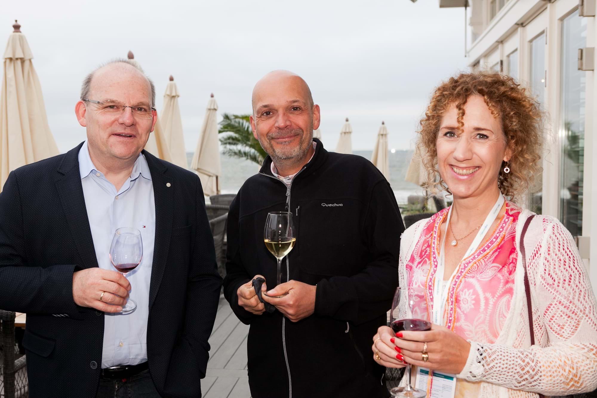 MGI World Delegates at beachside welcome drinks 1 MGI European Area Meeting, the Netherlands 2016