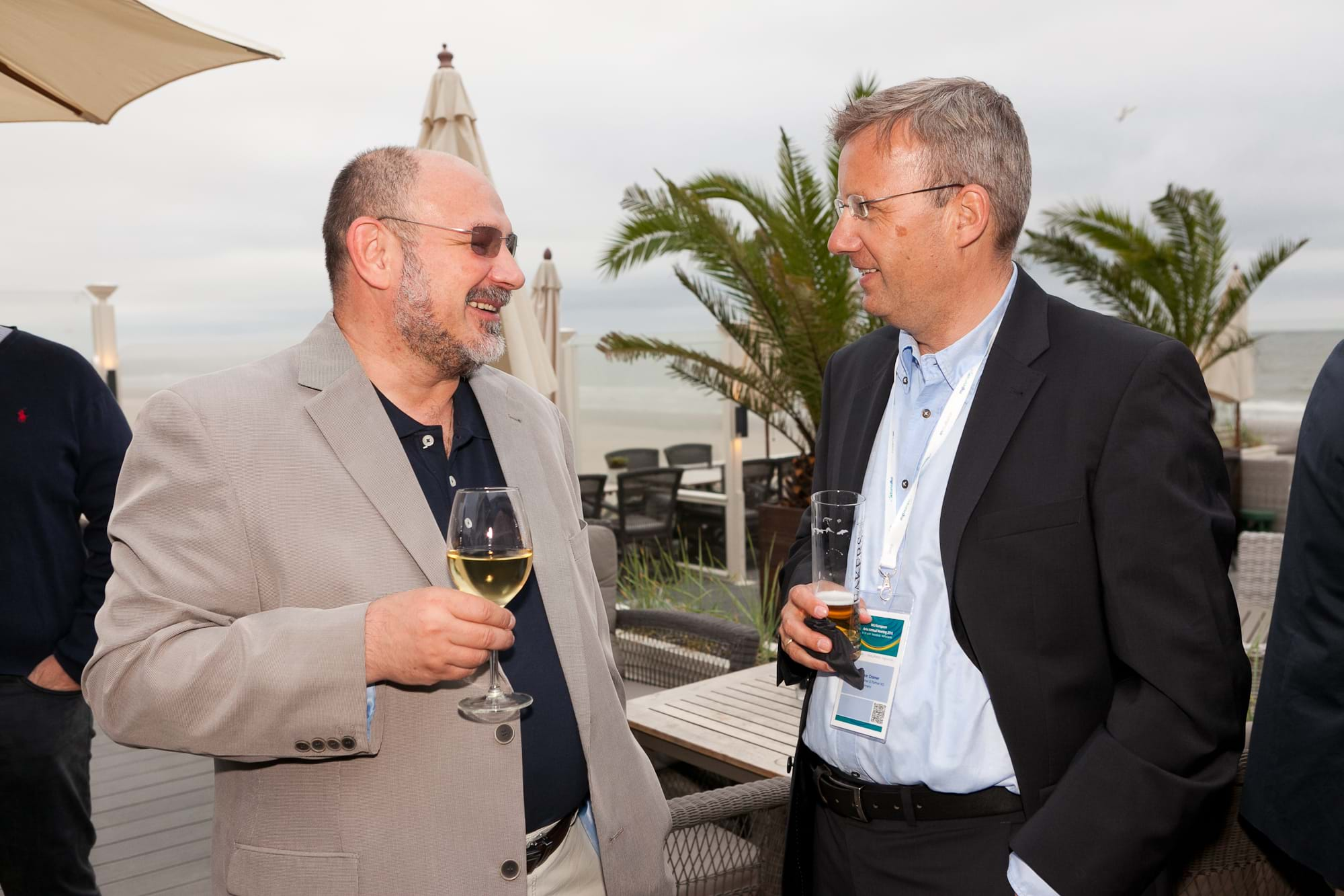 MGI World Delegates at beachside welcome drinks 2 MGI European Area Meeting, the Netherlands 2016