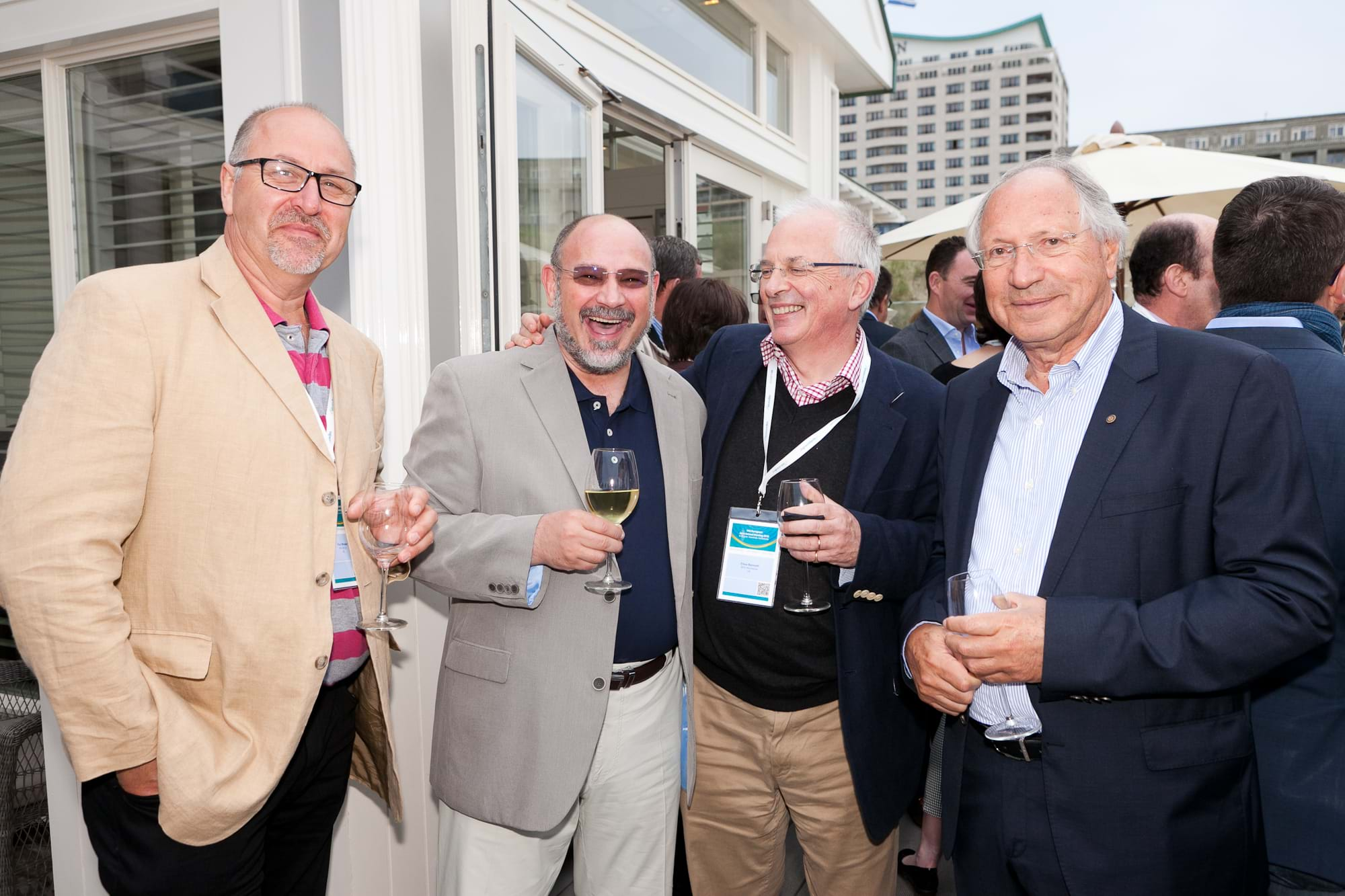 MGI World Delegates at beachside welcome drinks 3 MGI European Area Meeting, the Netherlands 2016