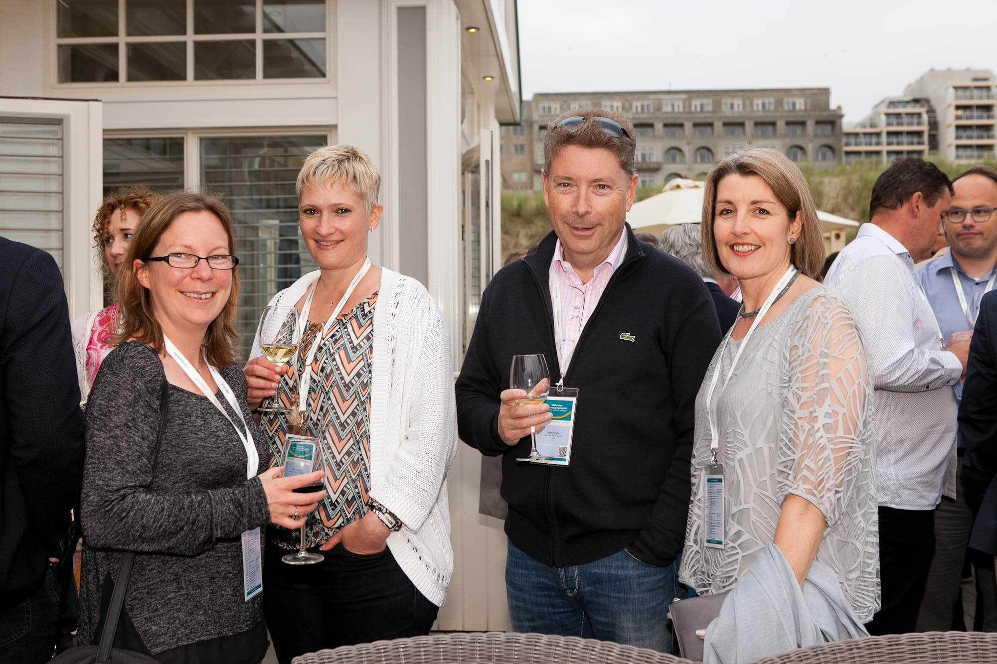 MGI World Delegates at beachside welcome drinks 5 MGI European Area Meeting, the Netherlands 2016