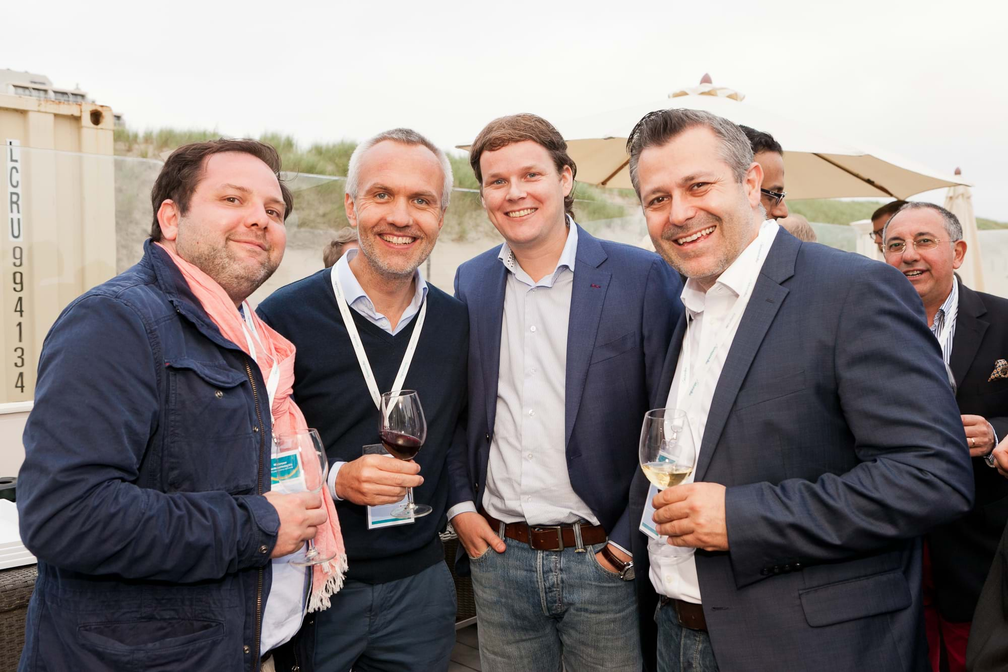 MGI World Delegates at beachside welcome drinks 6 MGI European Area Meeting, the Netherlands 2016