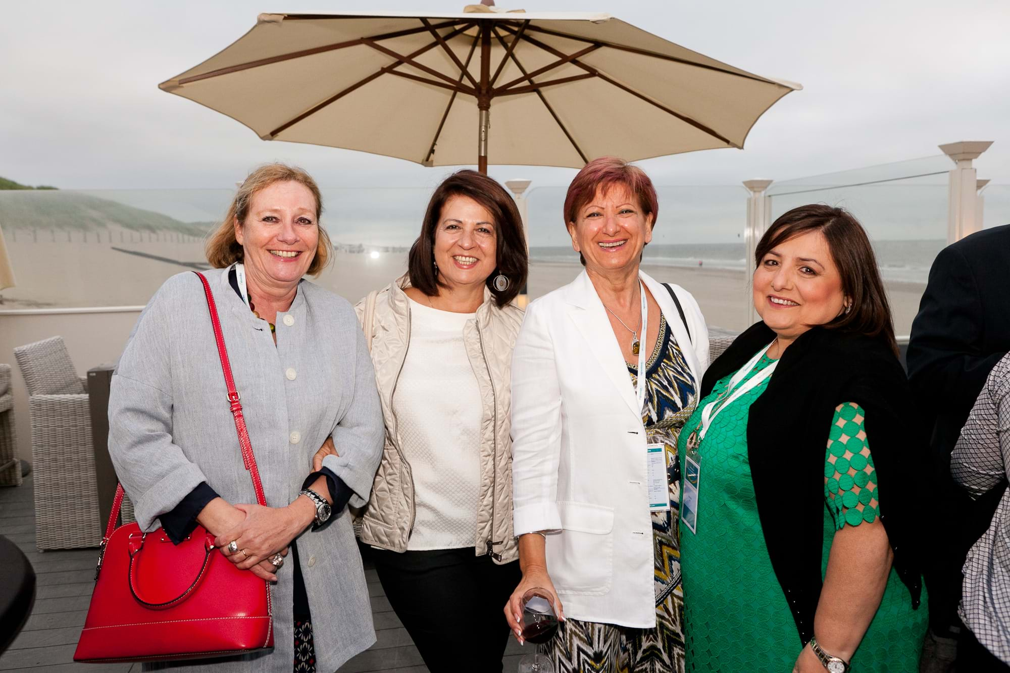 MGI World Delegates at beachside welcome drinks 8 MGI European Area Meeting, the Netherlands 2016