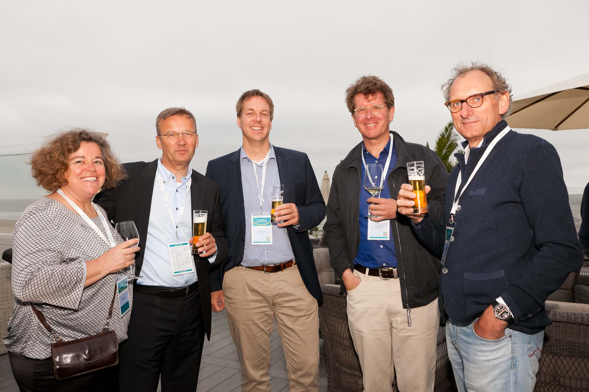MGI World Delegates at beachside welcome drinks 9 MGI European Area Meeting, the Netherlands 2016
