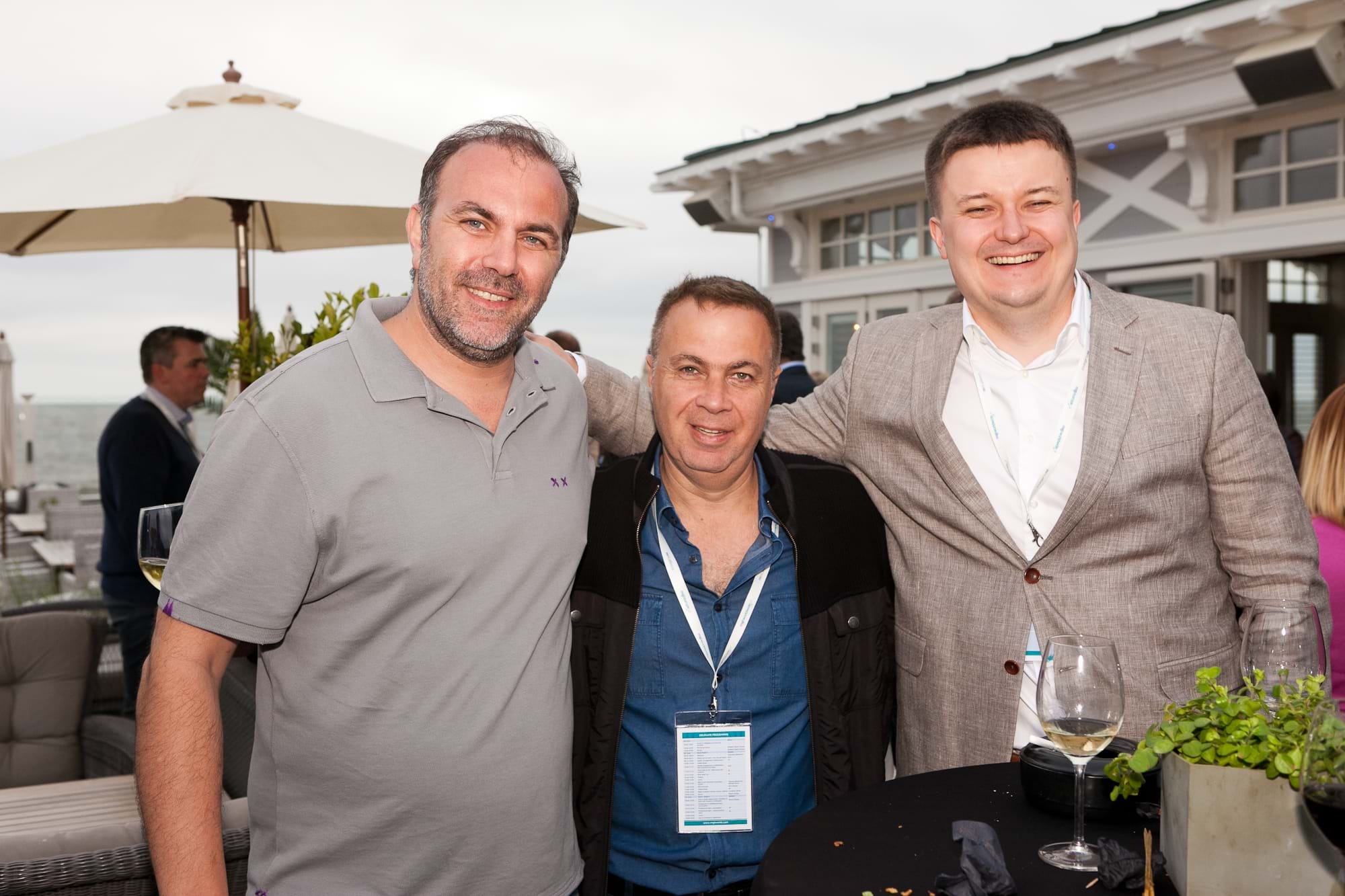 MGI World Delegates at beachside welcome drinks 10 MGI European Area Meeting, the Netherlands 2016