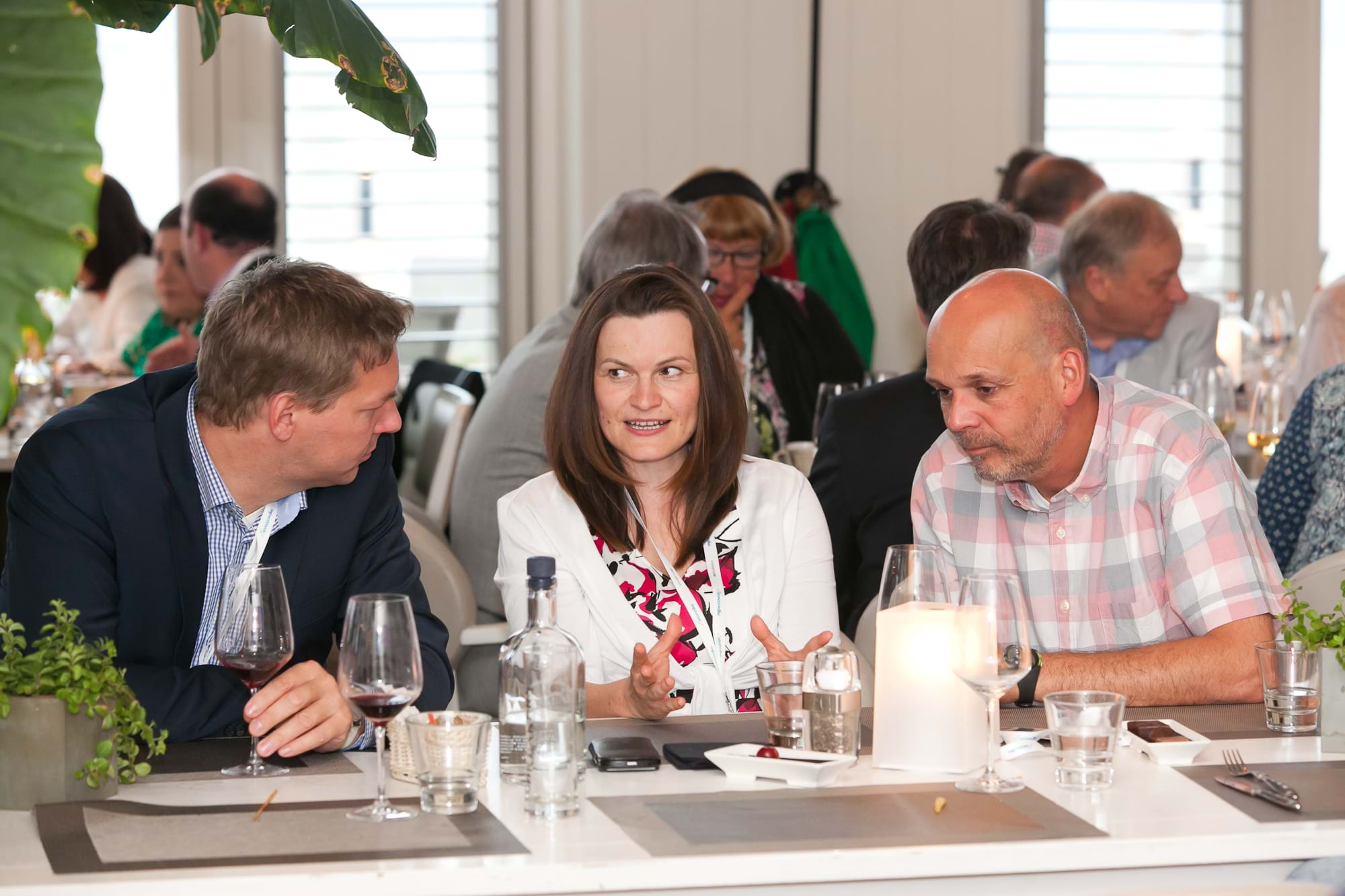 MGI World Delegates at beachside welcome drinks 16 MGI European Area Meeting, the Netherlands 2016