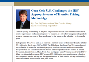 MGI World Tom Neff from MGI North America member firm RINA accountancy corporation talks about Transfer pricing challenged by Coca-Cola US PDF cropped screen shot