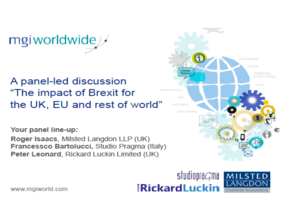 MGI World MGI Worldwide global accounting network Brexit Webinar presentation screen shot