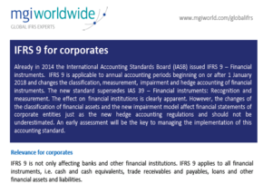 MGI World IFRS Experts from MGI Worldwide publish paper on IFRS 9 Screen shot 290x203