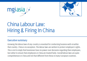MGI World MGI member firm LehmanBrown produce paper on China Labour Law: Hiring & Firing in China
