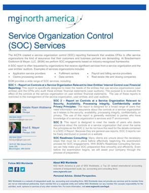 MGI BGM SOC Services