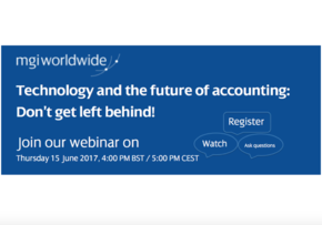 MGI World Screen Shot webinar announcement Technology and the Future of accounting