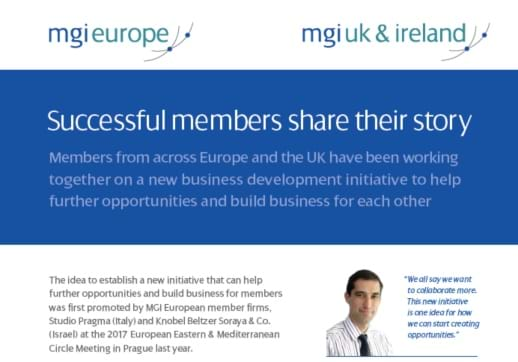 MGI World MGI Europe accounting firms initiative success story