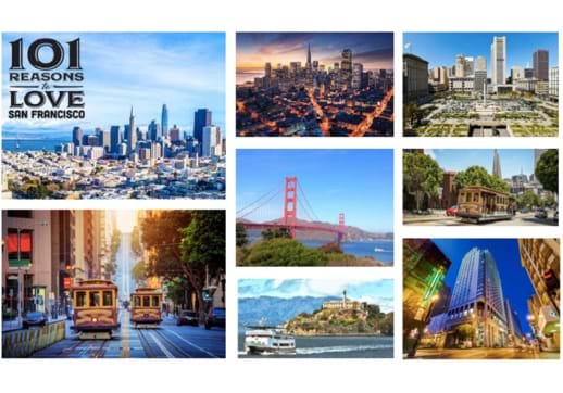 MGI World MGI Worldwide accounting network AGM venue San Francisco - postcard montage