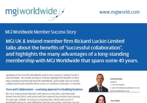 MGI World Rickard Luckin Success Story crop of PDF image