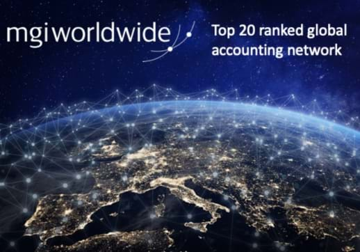 MGI World Accounting network image - EU Network with logo and top 20 tagline