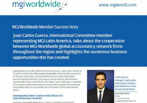 MGI World Screenshot of Juan Carlos Guerra Success Story Pdf_518x362