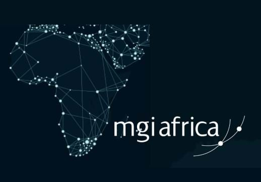 MGI World Satellite image of Africa with lights