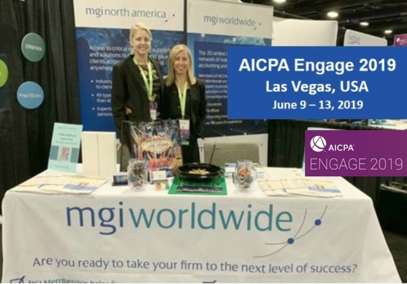 MGI World AICPA Engage 2019 lead image with MGI Worldwide and MGI NA logos overlaid