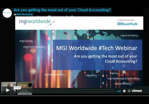MGI World Screenshot of Tech Webinar - Are you getting the most out of your Cloud Accounting