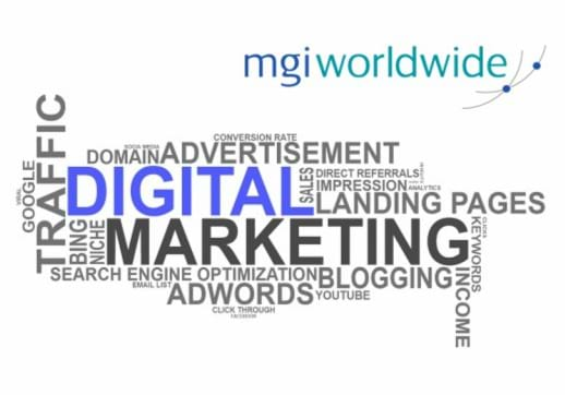 MGI World Composition of words defining Digital Marketing