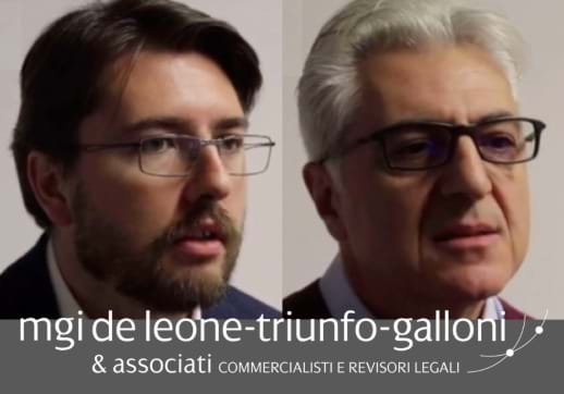 MGI World Dario Galloni and Giovanni Triunfo screenshot from testimonial video with MGI De Leone logo overlaid