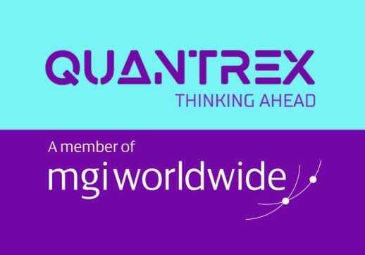 MGI World Montage of Quantrex Brazil logo with member of MGI Worldwide logo