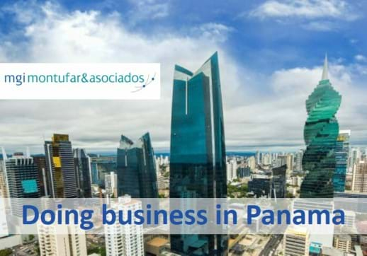 MGI World Panama city scape with MGI Montúfar & Asociados logo overlaid