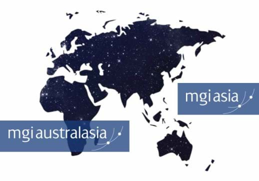 MGI World Asia + Australasia map