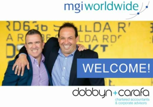 MGI World Anthony Dobbyn and Anthony Carafa, partners at Dobbyn + Carafa