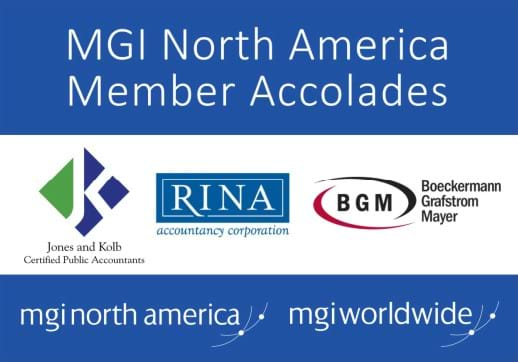 MGI World Montage of 3 logos and MGI NA accolades title overlaid