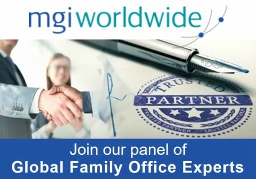 MGI World MGI Worldwide Global Family Office Experts microsite image with MGI logo and text banner overlaid