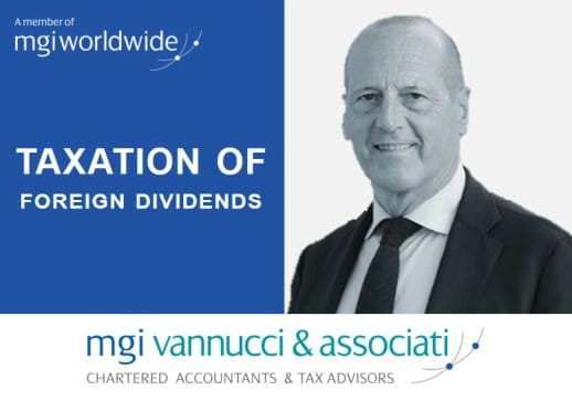 MGI World Profile picture of Pierpaolo Vannucci + the title of Grapevine's October issue and MGI Vannucci & Associati logo
