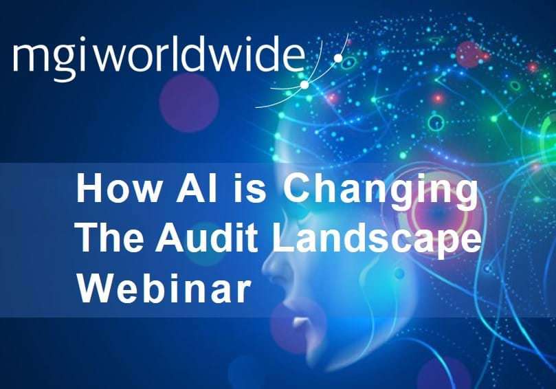 MGI World AI image with How AI is Changing The Audit Landscape title overlaid