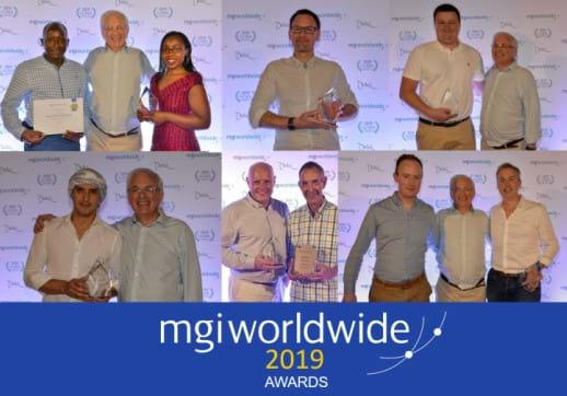 MGI World Montage of 6 pictures of MGI Worldwide 2019 award winners