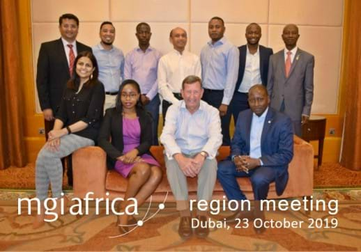 MGI World Group picture of members attending 2019 MGI Africa 2019 regional meeting