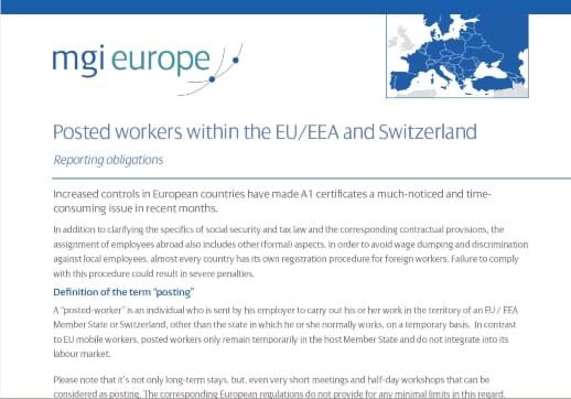 MGI World Front page of EU posted Workers white paper