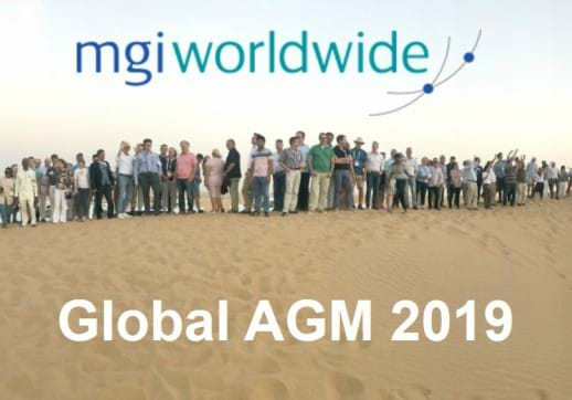 MGI World 2019 AGM Dubai - desert group picture