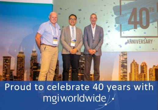 MGI World Kevin Thomas, Ken Yeung and Alan Worsdale celebrate 40 years with MGI