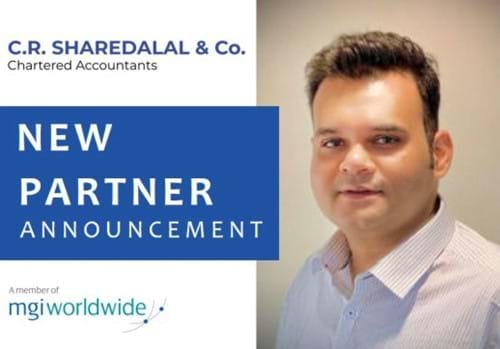 MGI World Profile picture of Utsav Hirani, the new partner of MGI Asia member firm  C.R. Sharedalal & Co.