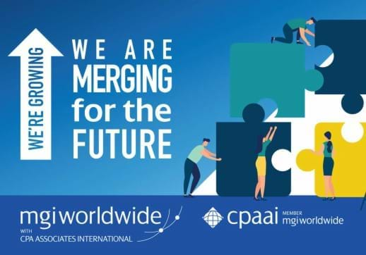 MGI World MGI Worldwide and CPAAI merger illustration