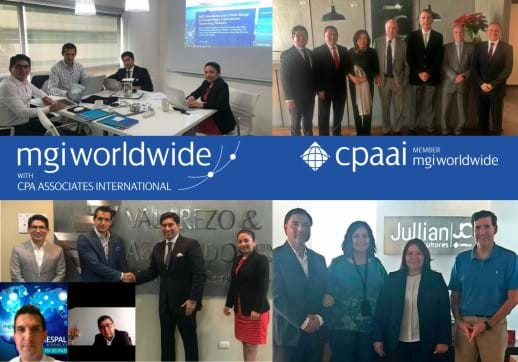 MGI World Collage of 5 pictures of MGI Worldwide and CPAAI Latin America members' collaboration