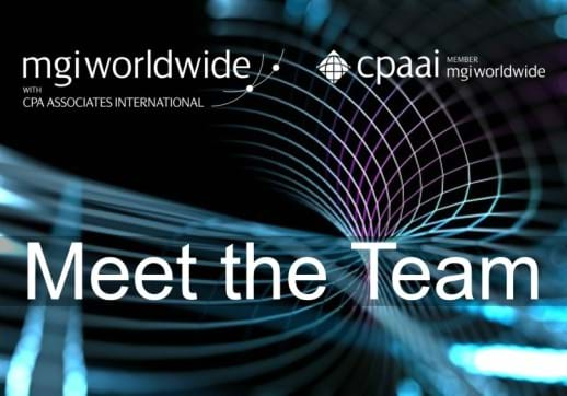 MGI World Technology image with MGI Worldwide and CPAAI logos and 'meet the team' overlaid