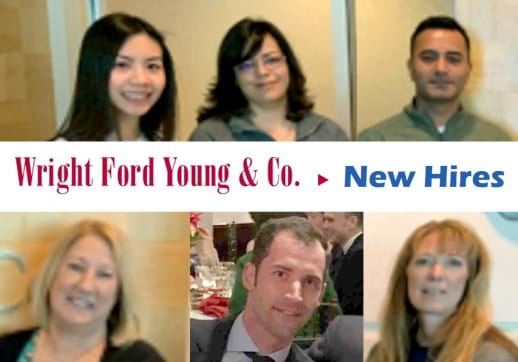 MGI World Collage of 6 pictures of the new Wright Ford Young & Co. hires