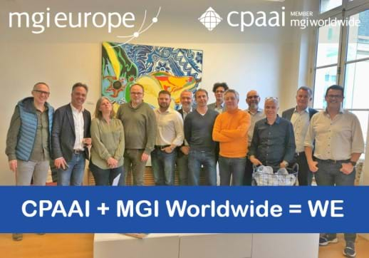 MGI World Group picture of MGI Europe and CPAAI EMEA board members