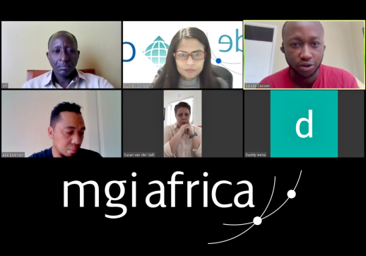 MGI World Screen shot of a Zoom call with MGI Africa participants