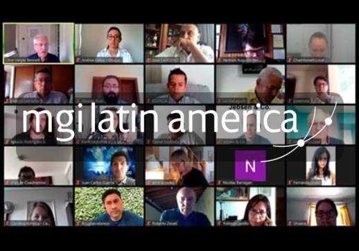 MGI World Print screen of MGI Latin America Zoom call