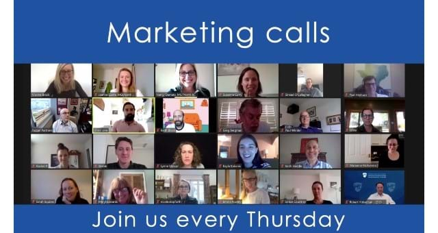 Marketing & communications – weekly drop-in call